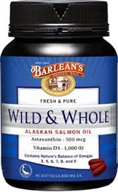 Barleans Wild & Whole Alaskan Salmon Oil, 180 Gels