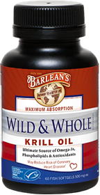 Barleans Wild & Whole Krill Oil, 60 gels