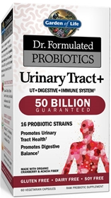 Garden of Life   Dr. Formulated Probiotics Urinary Tract+ 50 Billion CFU - 60 Vcaps
