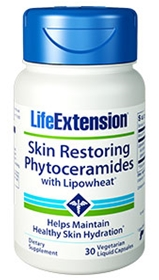 Life Extension Skin Restoring Ceramides with Lipowheat, 30 Liquid Caps