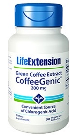 Life Extension Green Coffee Extract CoffeeGenic, 200mg, 90 Vcaps