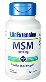 Life Extension MSM, 1000mg, 100 caps