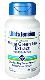 Life Extension Mega Green Tea Extract (Decaffeinated), 100 Vcaps