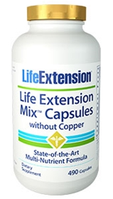 Life Extension Life Extension Mix Caps Without Copper, 490 caps