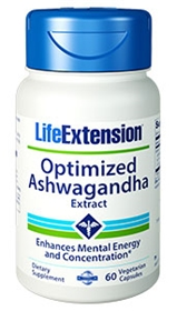 Life Extension Optimized Ashwagandha Extract, 60 Vcaps