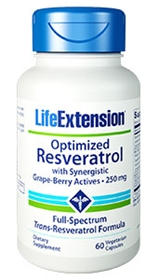 Life Extension Optimized Resveratrol 250mg, 60 Vcaps