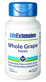 Life Extension Whole Grape Extract, 60 Vcaps