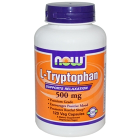 Now L-Tryptophan, 500 mg, 120 caps