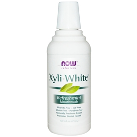 NOW XyliWhite Mouthwash, Mint, 16 oz
