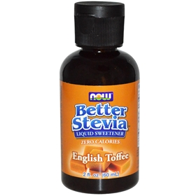 NOW Stevia BetterStevia Liquid Extract (English Toffee), 2 oz