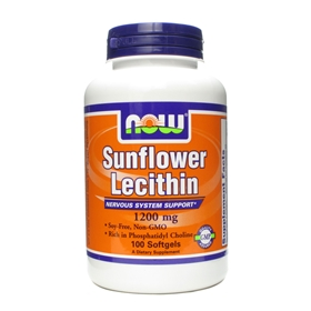 NOW Sunflower Lecithin, 1200mg, 100 gels
