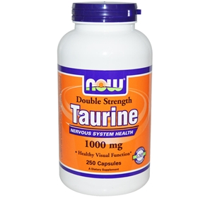 NOW Taurine, 1000mg , 250 Capsules