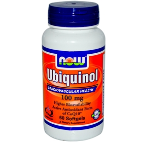 Now Ubiquinol, 100mg, 60 gels
