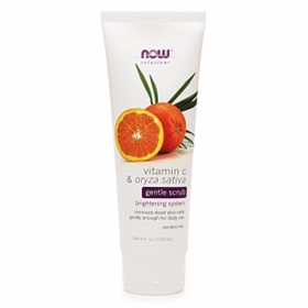 NOW Vitamin C & Oryza Sativa Gentle Scrub, 4 fl. oz.