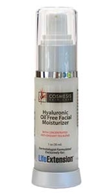 Life Extension Cosmesis Hyaluronic Oil-Free Facial Moisturizer, 1oz