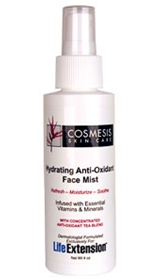 Life Extension Cosmesis Hydrating Anti-Oxidant Face Mist, 4oz