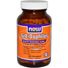 NOW Gr8-Dophilus, 120 Vcaps