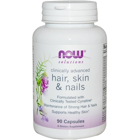 NOW Hair, Skin & Nails, 90 Capsules