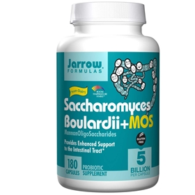 Jarrow Formulas Saccharomyces Boulardii + MOS, 5 Billion, 180 Vcaps