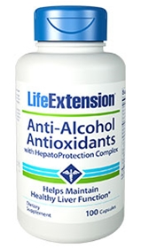 Life Extension Anti-Alcohol Antioxidants with HepatoProtection Complex, 100 caps