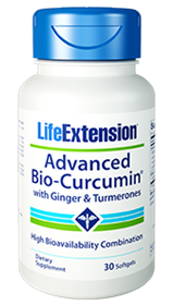 Life Extension Advanced Bio-Curcumin with Ginger & Turmerones, 30 gels