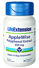 Life Extension AppleWise Polyphenol Extract, 600mg, 30Vcaps