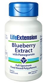 Life Extension Blueberry Extract with Pomegranate, 60Vcaps