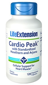 Life Extension Cardio Peak w/Standardized Hawthorn and Arjuna, 120 Vcaps