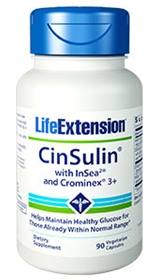 Life Extension CinSulin with InSea2 and Crominex 3+, 90 Vcaps