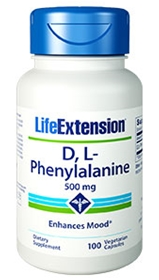 Life Extension D,L-Phenylalanine, 500mg, 100 Caps