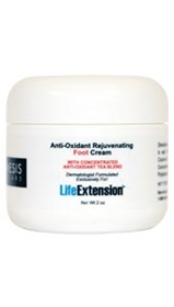 Life Extension Cosmesis Anti-Oxidant Rejuvenating Foot Cream, 2oz