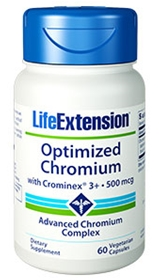 Life Extension Chromium (Optimized) with Crominex 3+, 500 mcg, 60 Vcaps