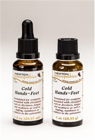 Newton Homeopathics COLD HANDS & FEET, 1 fl oz Liquid