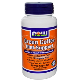 NOW Green Coffee Diet Support, 400mg, 90 VCaps