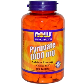 NOW Pyruvate, 1000mg, 180 tabs