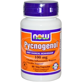 NOW Pycnogenol, 100mg, 60 Vcaps