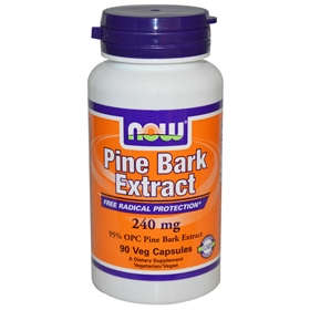 NOW Pine Bark Extract 240 mg, 90 V Caps