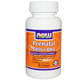 NOW Prenatal Gels + DHA, 90 Softgels