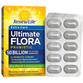 Renew Life  Ultimate Flora Extra Care Probiotic 50 Billion  30 Count