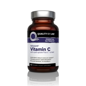 Quality of Life Labs Advasorb Vitamin C, 60Vcaps