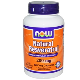 NOW Resveratrol, 200 mg, 120 Vcaps