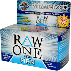Garden of Life Vitamin Code Raw One for Men, 75 VCaps