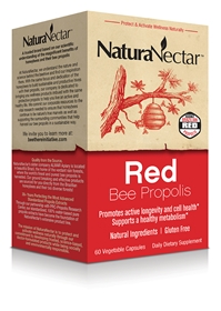 NaturaNectar Red Bee Propolis, 60 Vcaps