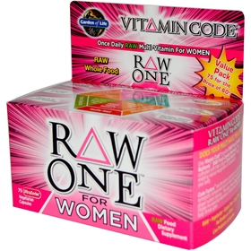 Garden of Life Vitamin Code Raw One for Women, 75 VCaps