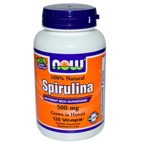 NOW Spirulina, 500mg, 120 Vcaps
