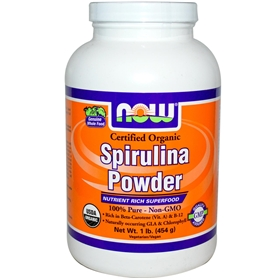 NOW Spirulina Powder, 1lb, Certified Organic