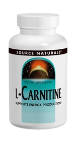 Source Naturals L-Carnitine Caps, 500mg, 60 caps