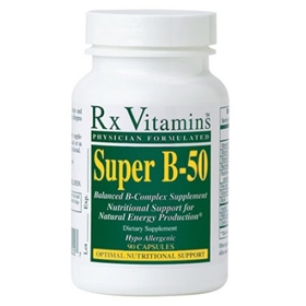 Rx Vitamins  Super B-50 Complex 50mg  90 Caps