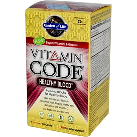 Garden of Life Vitamin Code Healthy Blood, 60 VCaps