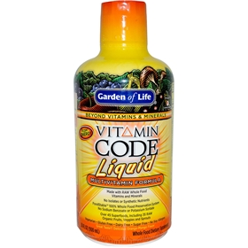 Garden of Life Vitamin Code Liquid Multi, Orange Mango, 30 fl oz (900 ml)